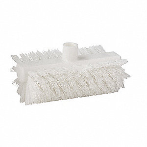 SCRUB BRUSH, WHITE, NYLON,