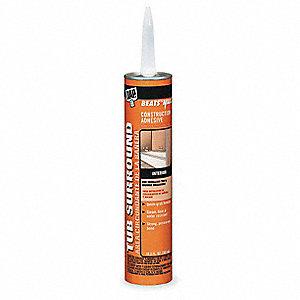 DAP Shower Wall Adhesive,10.3 Oz,Gray - 2KVJ6|25420 - Grainger