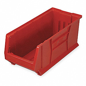 Bin,29-7/8 In. L,11 In. W,10 In. H,Red