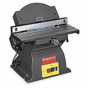 "3/4 HP Bench Edge Finishing Machine, 110 Voltage, 1 Phase, 9 Amps, 7"" Wheel Dia."