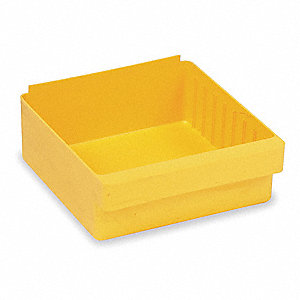 "Drawer Bin, Yellow, 4-5/8""H x 17-5/8""L x 8-3/8""W, 1EA"