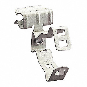 "Cable Flange Clip, 3/8"" Nominal Conduit/Pipe, Spring Steel, 1 EA"