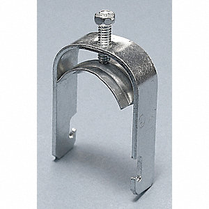Conduit Clamp,1-1/2 In EMT,Silver