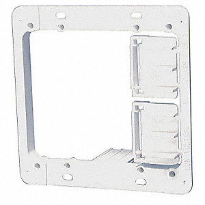 Plastic Communication Mounting Bracket, For Use With Low Voltage Class 2 Outlets