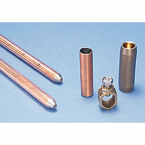"Ground Rod Kit, 4 ft., 5/8"" Diameter, Copper Bonded Steel, UL, CSA"