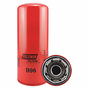 "Spin-On Oil Filter, Length: 11-9/32"", Outside Dia.: 4-11/16"", Micron Rating: 9.8"