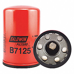 "Spin-On Oil Filter, Length: 5-3/4"", Outside Dia.: 3-11/16"", Micron Rating: 12"