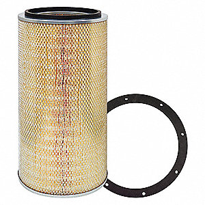 "Air Filter, Round, 22-13/16"" Height, 22-13/16"" Length, 10-3/8"" Outside Dia."