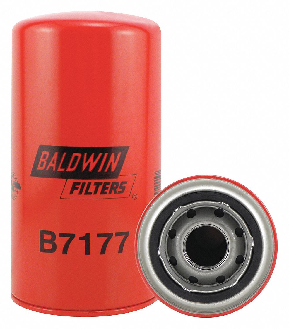 Spin-On Oil Filter, Length: 7 3/16 in, Outside Dia.: 3 11/16 in, Micron Rating: 12