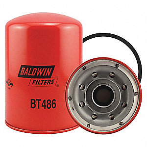 "Spin-On Oil Filter, Length: 6-31/32"", Outside Dia.: 5-1/16"", Micron Rating: 12"