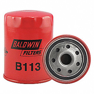 "Spin-On Oil Filter, Length: 4-1/16"", Outside Dia.: 3-1/32"", Micron Rating: 12"