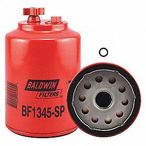 baldwin filters fuel filter, spin-on filter design - 2kzj2|bf1345-sp -  grainger