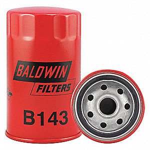 "Spin-On Oil Filter, Length: 5-3/32"", Outside Dia.: 3"", Micron Rating: 23"