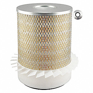"Air Filter, Round, 10-1/4"" Height, 10-1/4"" Length, 7-15/16"" Outside Dia."
