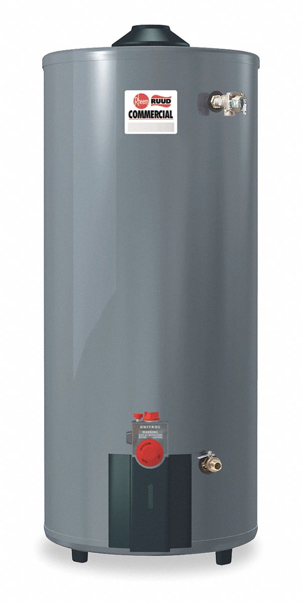Commercial Gas Water Heater, 100.0 gal Tank Capacity, Natural Gas, 76,000 BtuH - Water Heaters
