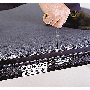 Carpeted Portable Stage Package, 12 ft. Overall Length, 8 ft. Overall Width