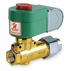 SOLENOID VALVE,2 WAY,NC,BRASS,1/2 I