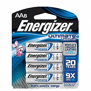 AA Standard Battery, Ultimate, Lithium, PK8