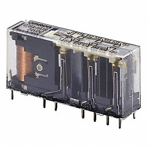 Force Guided Safety Relay, 4NO/2NC, Contact Load Rating: 6.0A, Input Voltage: 24VDC