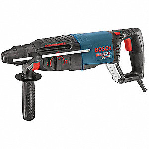 SDS Plus Rotary Hammer Kit, 7.5 Amps, 0 to 5800 Blows per Minute, 120 Voltage