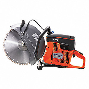 "14"" Wet/Dry Cut-Off Saw, 5400 Max. RPM, 5 HP, 2-Cycle Gasoline Motor Type"
