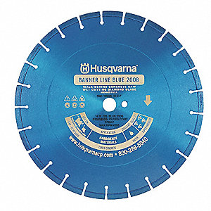 "14"" Wet Diamond Saw Blade, Segmented Rim Type, Application: Demolition"