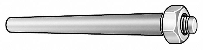 Taper Pin,  Stainless Steel,  18-8,  0.49 in Large End Dia.,  2 7/16 in Fastener Length