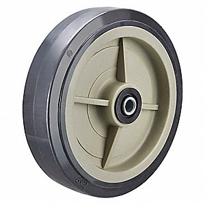 "8"" Caster Wheel, 1000 lb. Load Rating, Wheel Width 2"", Polyurethane, Fits Axle Dia. 1/2"""