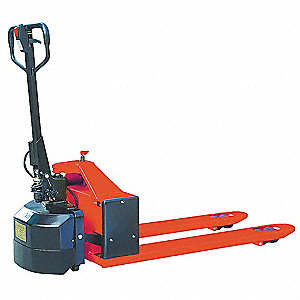 "Semielectric Pallet Jack, 3"" Fork Height Lowered, 7-1/2"" Fork Height Raised, 48"" Fork Length"