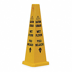 Safety Cone, Caution Wet Floor, Eng/Sp