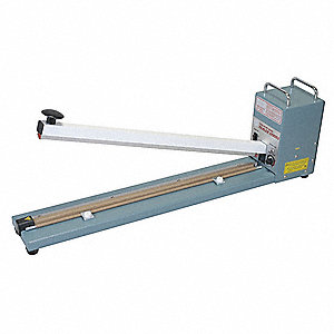 "Hand Operated Bag Sealer; Seal Length: 24"", Seal Width: 3/32"", Overall Height: 13"""