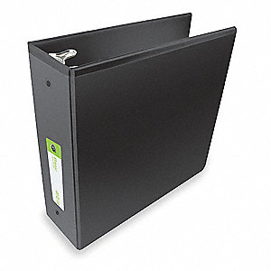 "Black Basic Binder, 3"" Round, Polypropylene"