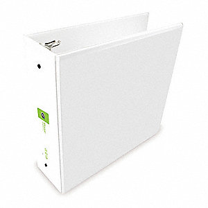 "3"" Basic Binder, White, 550-Sheet Capacity"