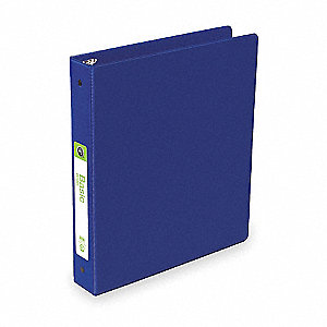 "Blue Basic Binder, 1-1/2"" Round, Polypropylene"