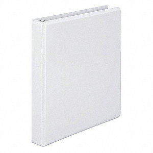 Basic Binder,View,D-Ring,1in,White