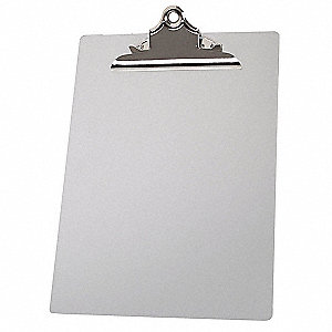 "9-1/8"" x 11-13/16"" Aluminum/Plastic Clipboard with Butterfly Clip, Silver"