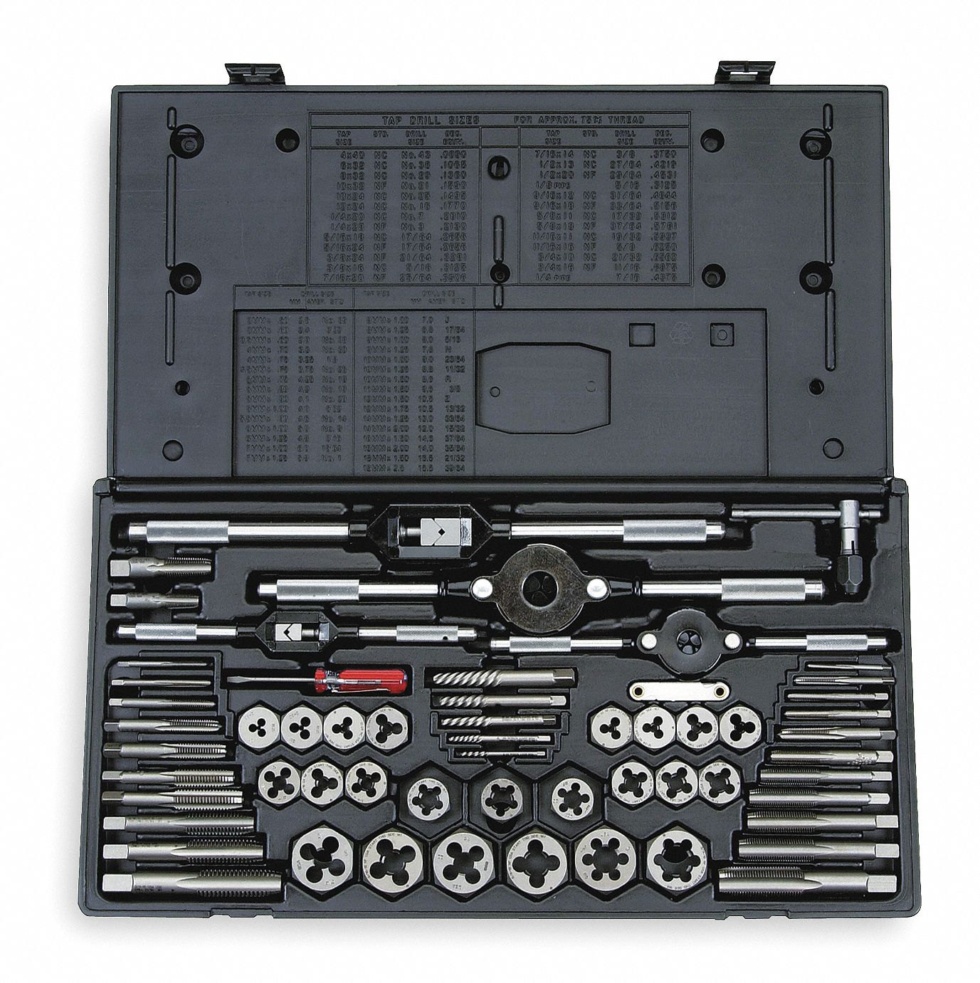 VERMONT AMERICAN 58 Piece Carbon Steel Tap And Die Set