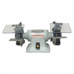 "1/4 HP Bench Grinder, 120/240 Voltage, 1 Phase, 3.0/1.5 Amps, 6"" Wheel Dia."