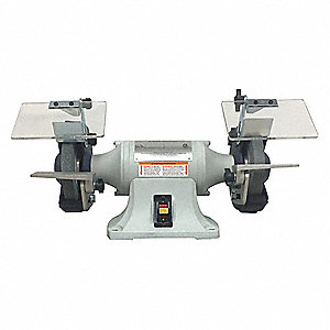 "1/3 HP Bench Grinder, 115/230 Voltage, 1 Phase, 3.5/1.75 Amps, 6"" Wheel Dia."