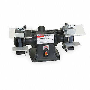 "1/3 HP Bench Grinder, 120  Voltage, 1 Phase, 3.5 Amps, 6"" Wheel Dia."