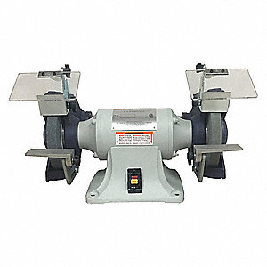 "3/4 HP Bench Grinder, 115/230 Voltage, 1 Phase, 7/3.5 Amps, 8"" Wheel Dia."