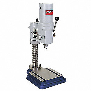 "1/4 Motor HP Bench Drill Press, Belt Drive Type, 9-5/8"" Swing, 120 Voltage"