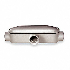 "T-Style 3"" Conduit Outlet Body, Threaded Aluminum, 758.4 cu. in."