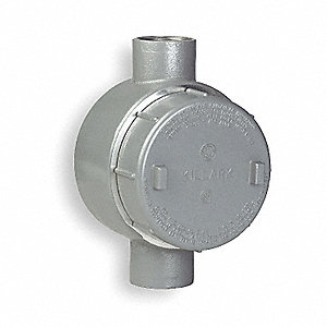 "C-Style 1/2"" Conduit Outlet Body, Threaded Aluminum, 19.0 cu. in."