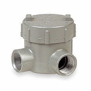 "L-Style 3/4"" Conduit Outlet Body, Threaded Iron, 19.0 cu. in."