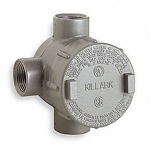 Conduit Outlet Body,T,1/2 In.