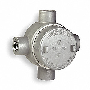 "X-Style 1-1/2"" Conduit Outlet Body, Threaded Aluminum, 75.0 cu. in."