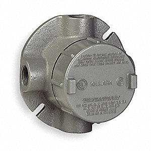 "XTF-Style 1/2"" Conduit Outlet Body, Threaded Iron, 19.0 cu. in."