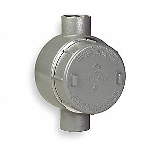 "C-Style 1"" Conduit Outlet Body, Threaded Iron, 42.0 cu. in."