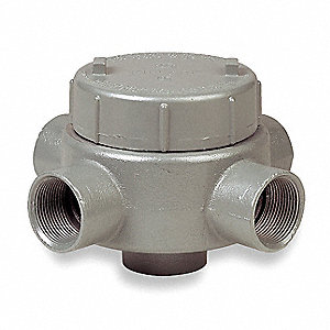 "XAT-Style 1-1/4"" Conduit Outlet Body, Threaded Iron, 42.0 cu. in."